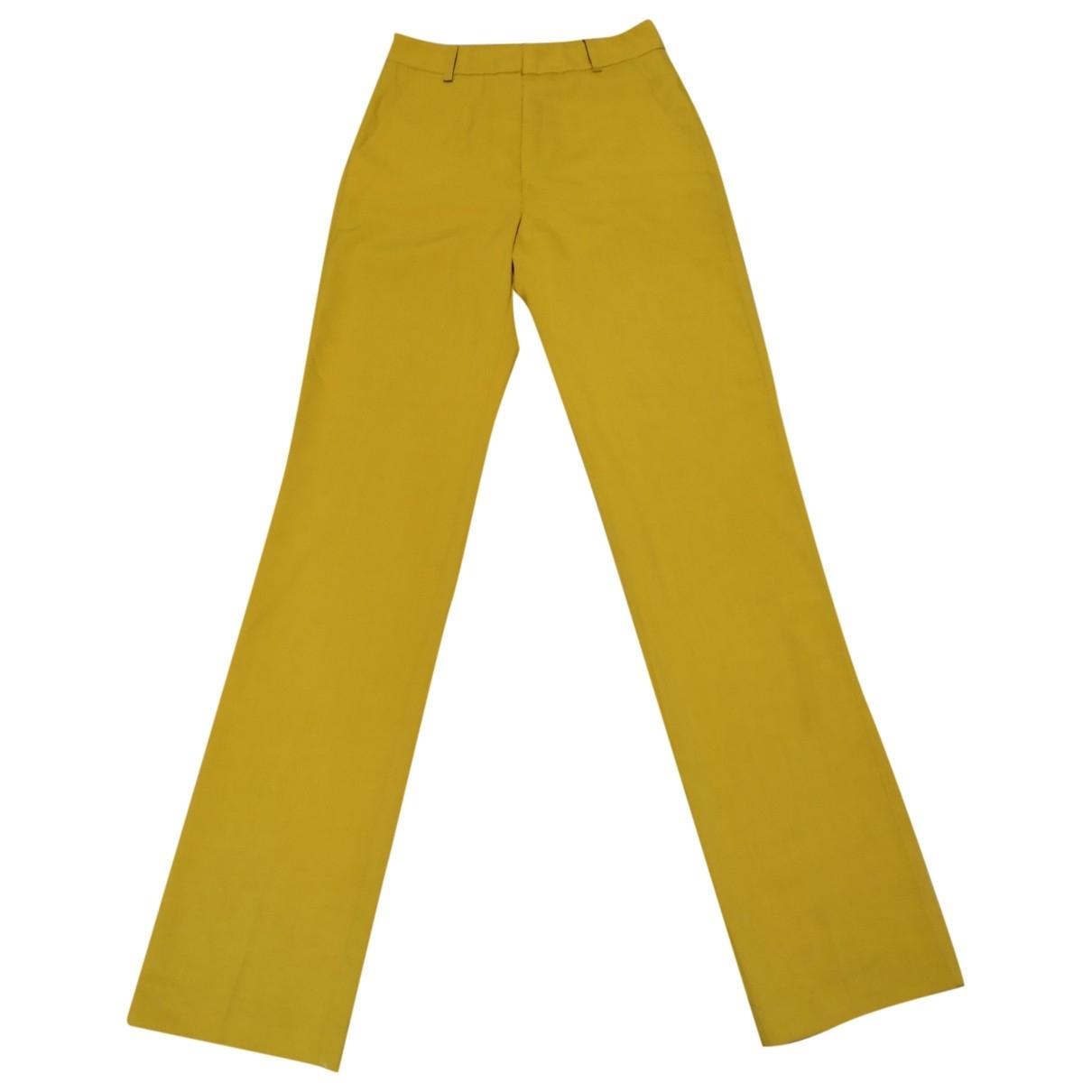 Essentiel Antwerp \N Yellow Trousers for Women 34 FR