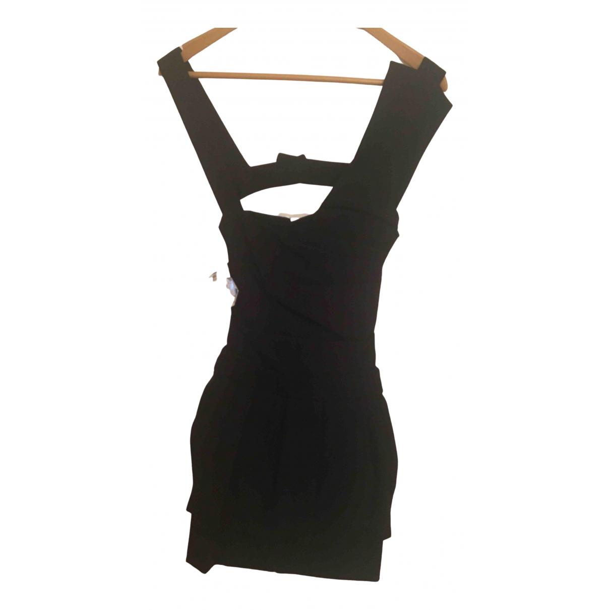 Preen By Thornton Bregazzi \N Kleid in  Schwarz Viskose