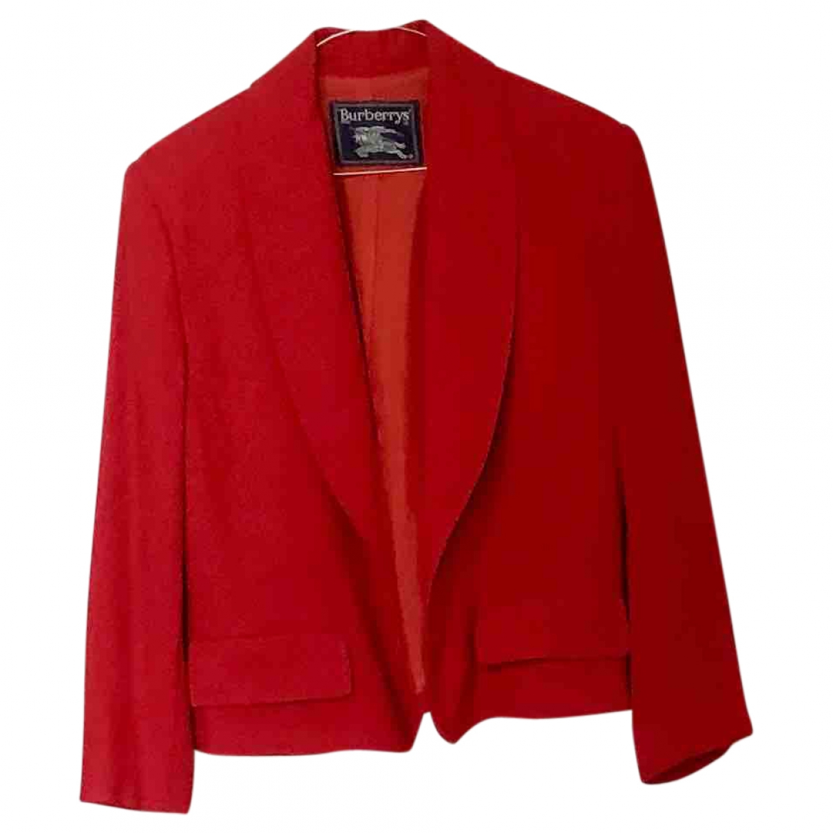 Burberry \N Jacke in  Rot Wolle
