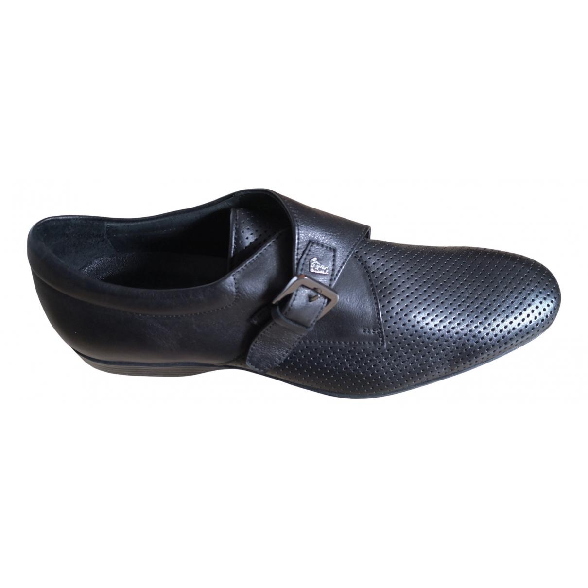 Versace \N Mokassins in  Schwarz Leder