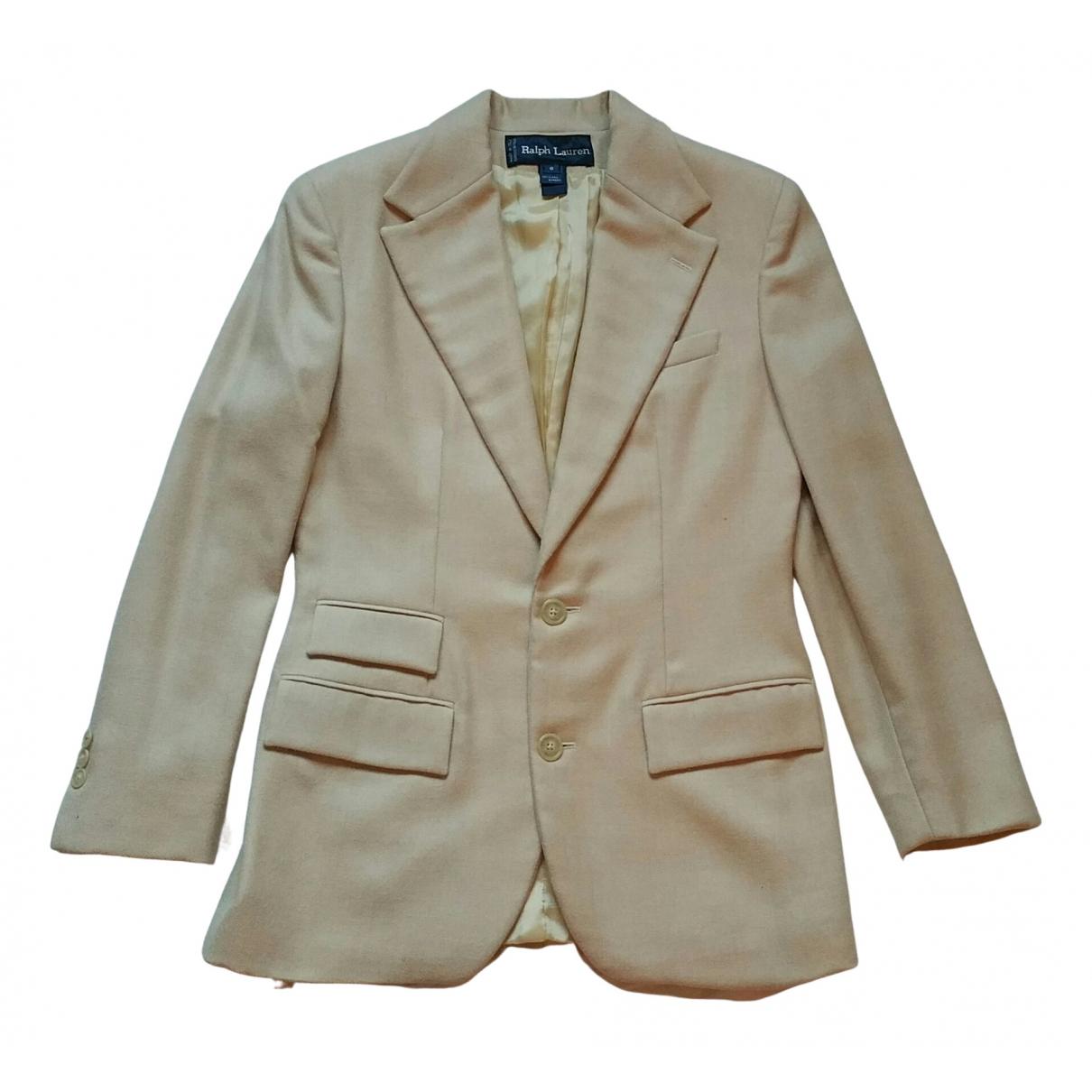 Ralph Lauren \N Beige Wool jacket for Women 8 US