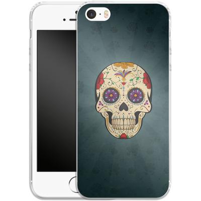 Apple iPhone 5s Silikon Handyhuelle - Dia de Muertos von SONY