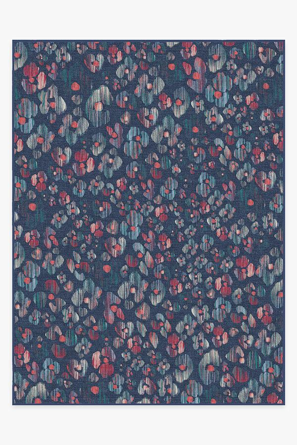 Washable Rug Cover & Pad | Ayana Sapphire Rug | Stain-Resistant | Ruggable | 9'x12'