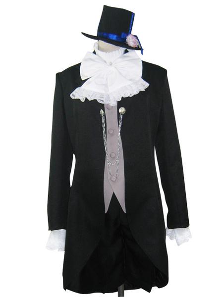 Milanoo Halloween Traje atractivo de Ciel Phantomhive para cosplay de Black Butler