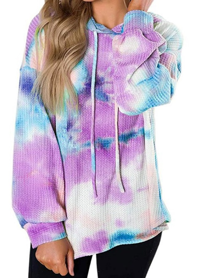 Ericdress Regular Print Camouflage Hooded Mid-Length Hoodie