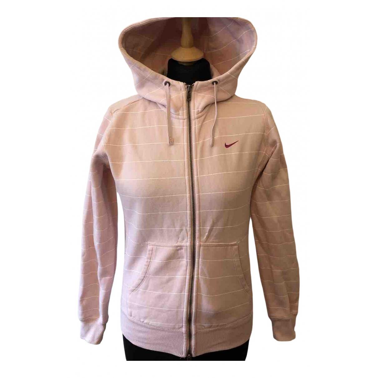 Nike - Pull   pour femme en coton - rose