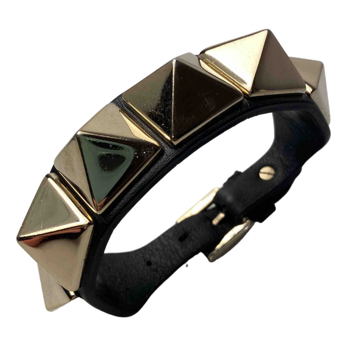 Valentino Garavani N Black Leather bracelet for Women N