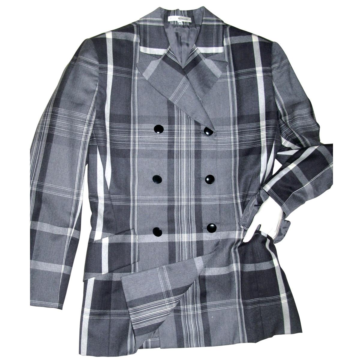 - Veste Epaulettes pour femme en laine - gris