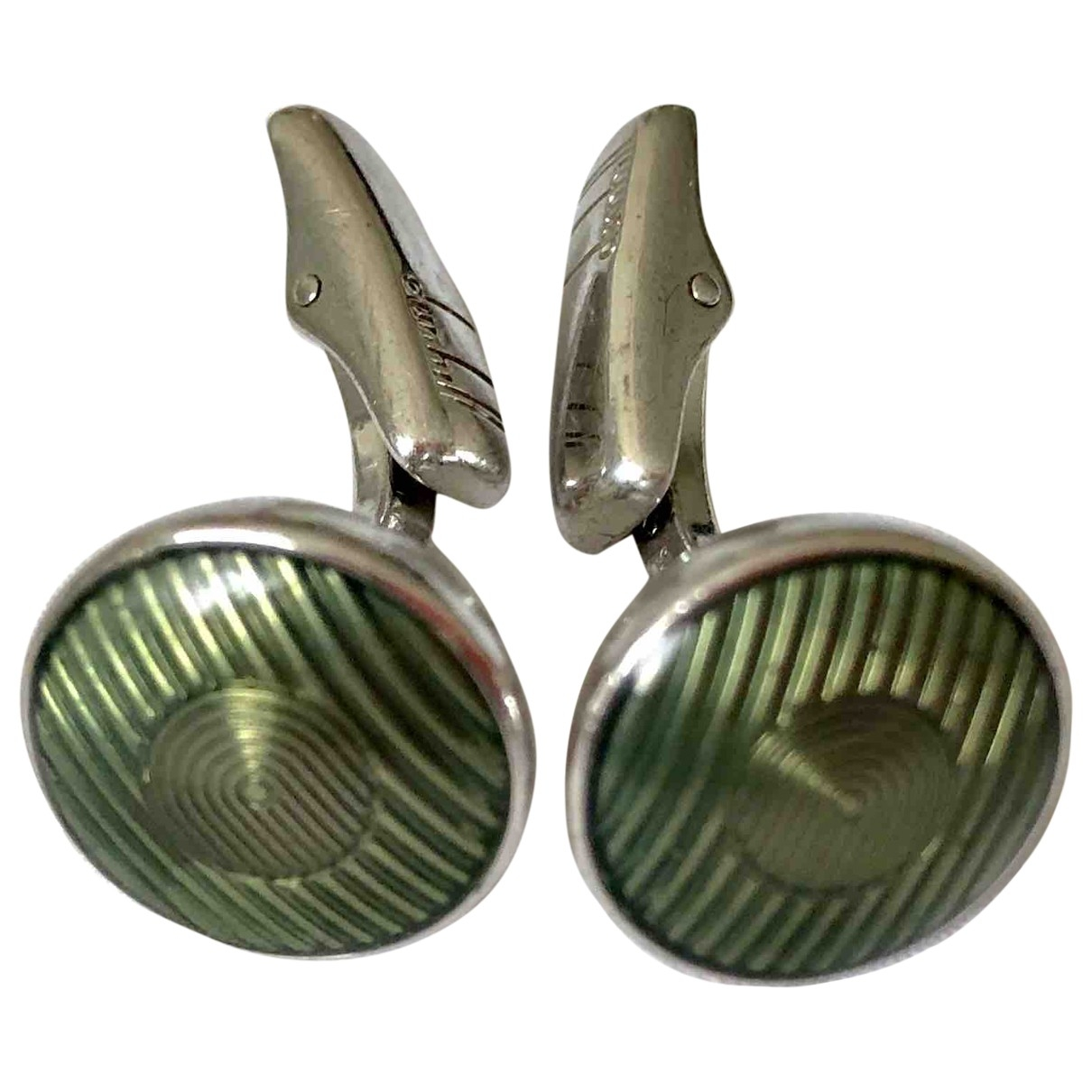 Alfred Dunhill \N Green Silver Cufflinks for Men \N