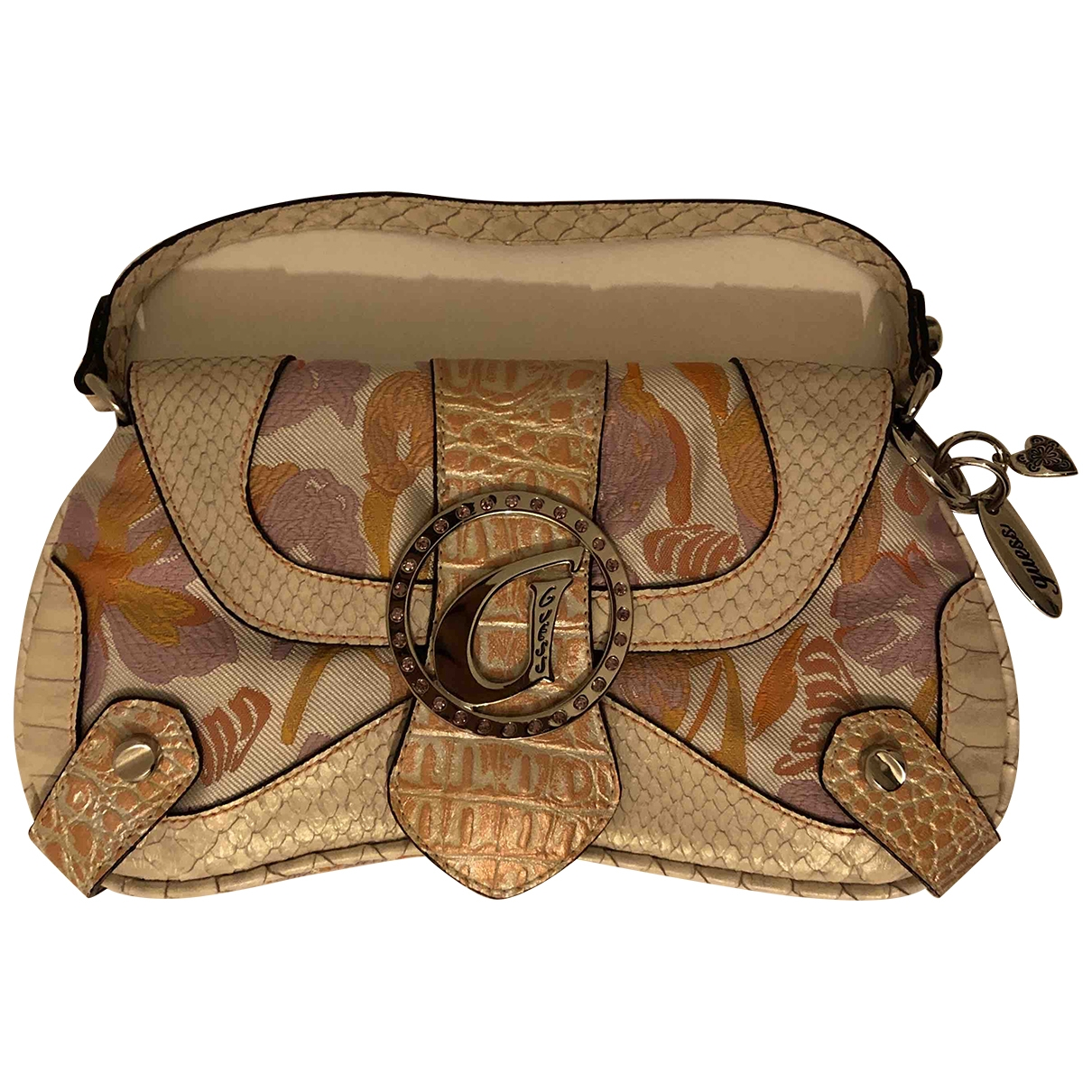 Guess \N Beige Cloth Clutch bag for Women \N