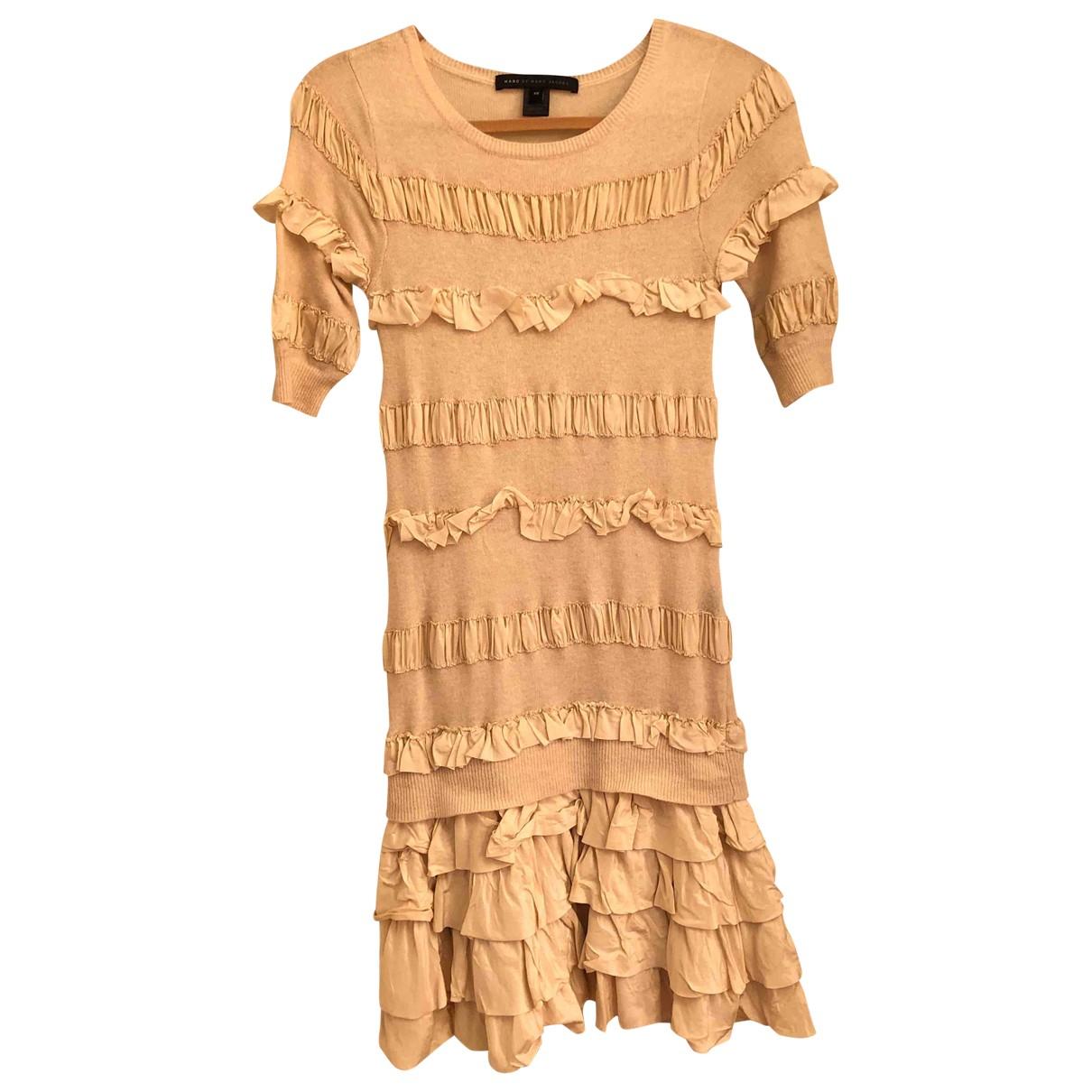 Marc By Marc Jacobs - Robe   pour femme en laine - beige