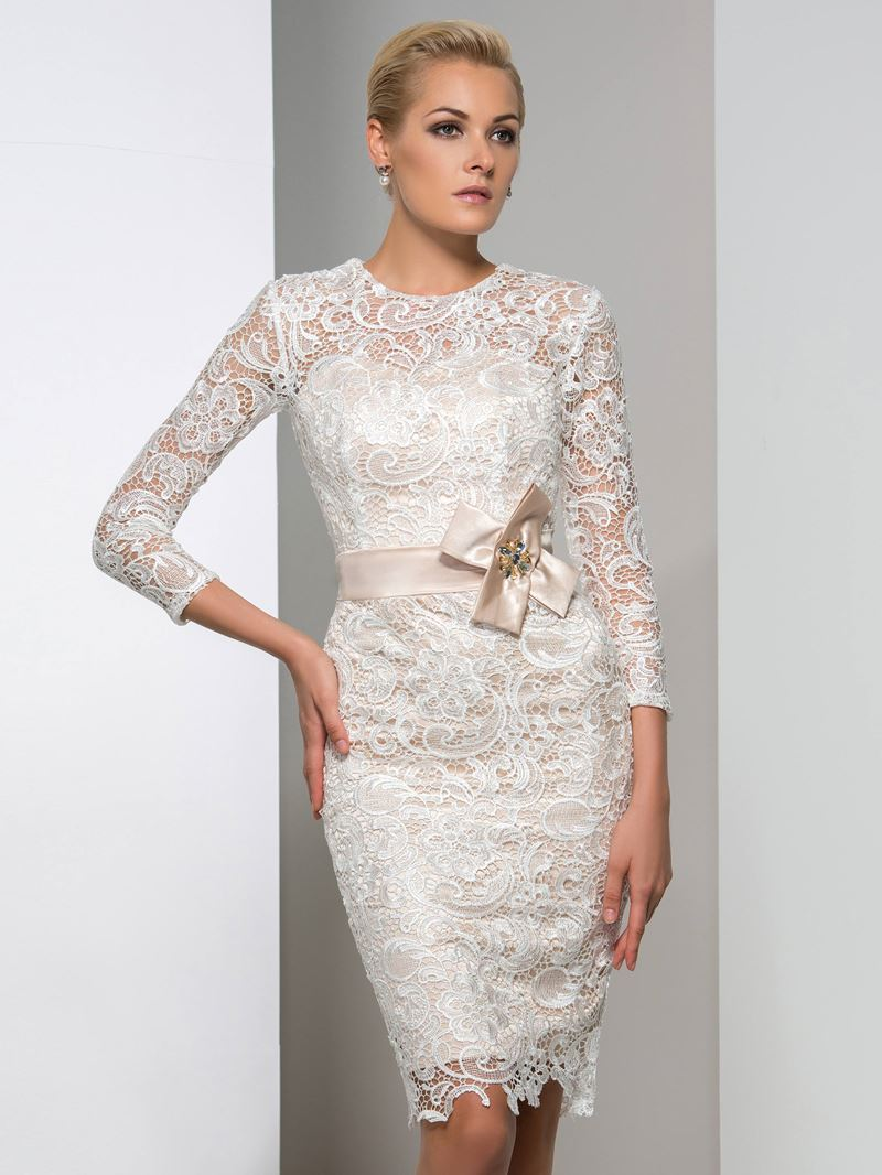 Ericdress Long Sleeve Bowknot Lace Cocktail Dress