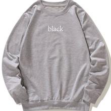 Sweatshirt mit Buchstaben Muster und rundem Kragen