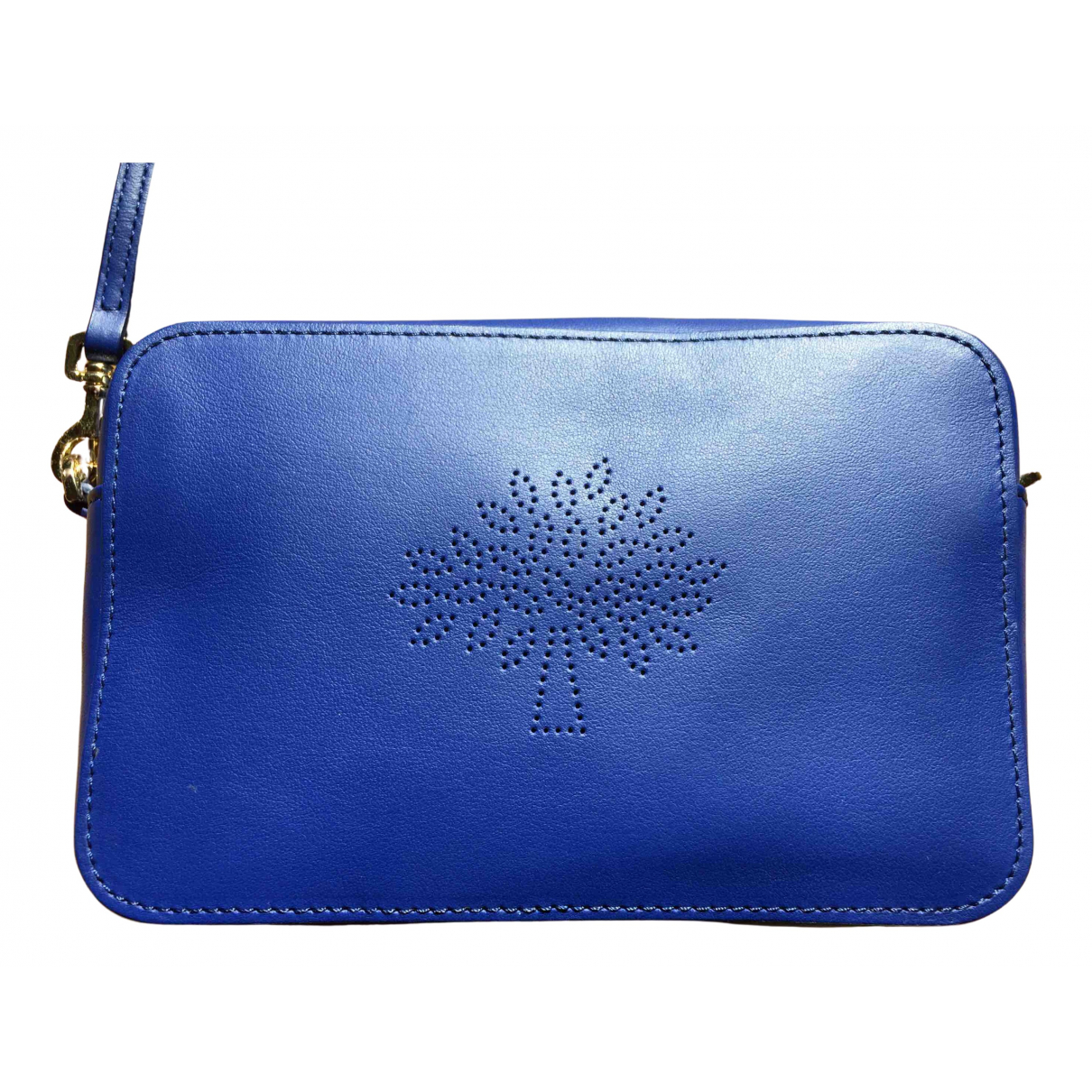 Mulberry Blossom Blue Leather Clutch bag for Women N