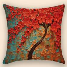 Tree Print Cushion Cover Without Filler