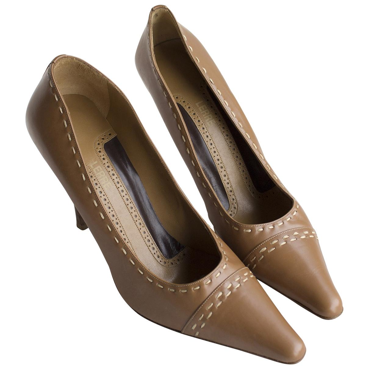 Lerre - Escarpins   pour femme en cuir - camel