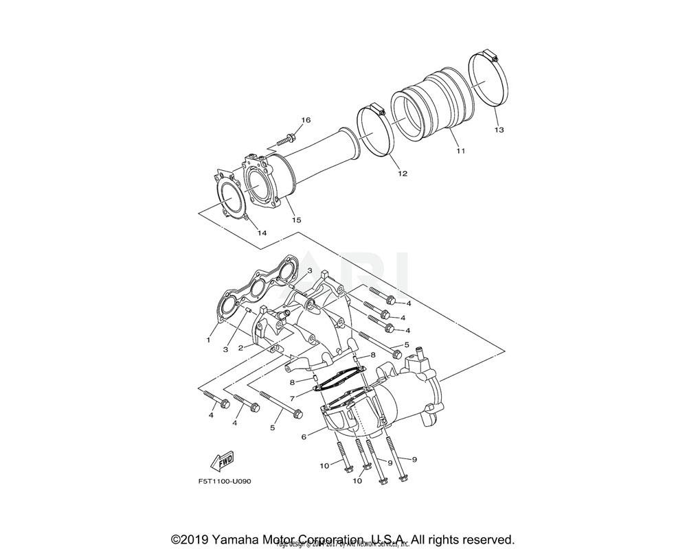 Yamaha OEM 6EY-14613-00-00 GASKET, EXHAUST PIPE