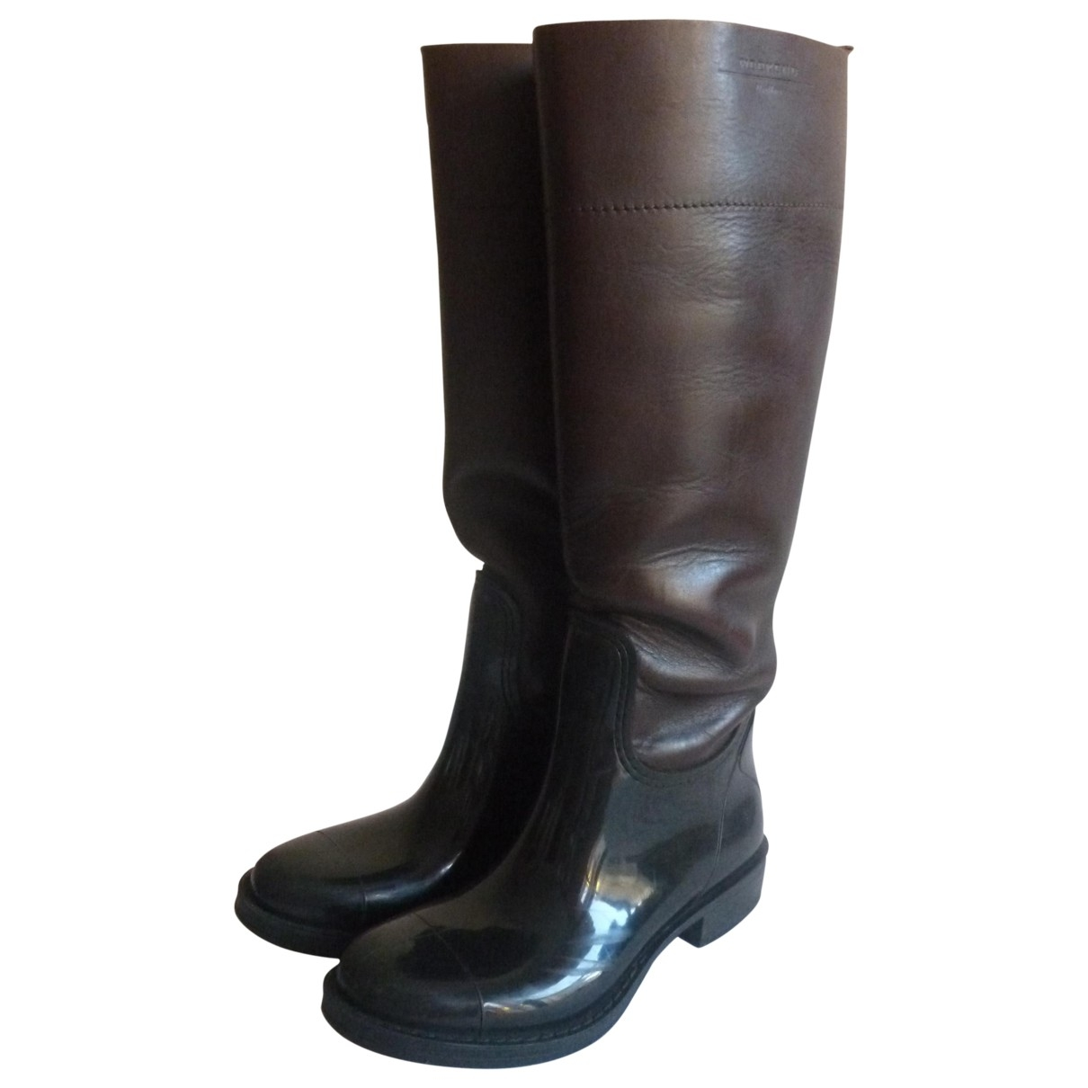 Max Mara \N Brown Leather Boots for Women 37 EU