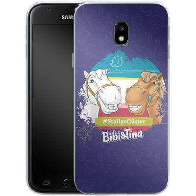 Samsung Galaxy J3 (2017) Silikon Handyhuelle - Bibi und Tina Stallgefluester von Bibi & Tina