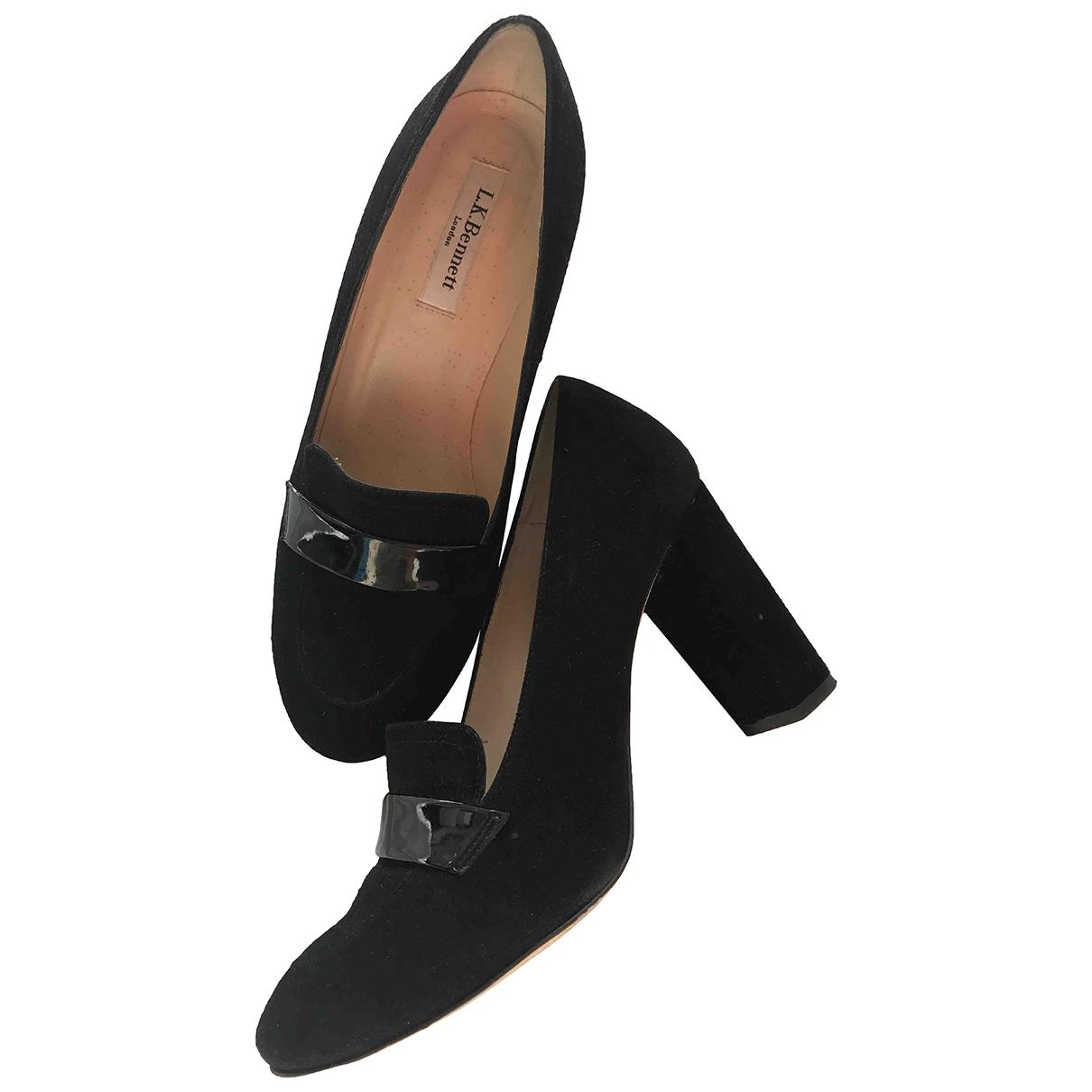 Lk Bennett \N Black Leather Heels for Women 39 EU