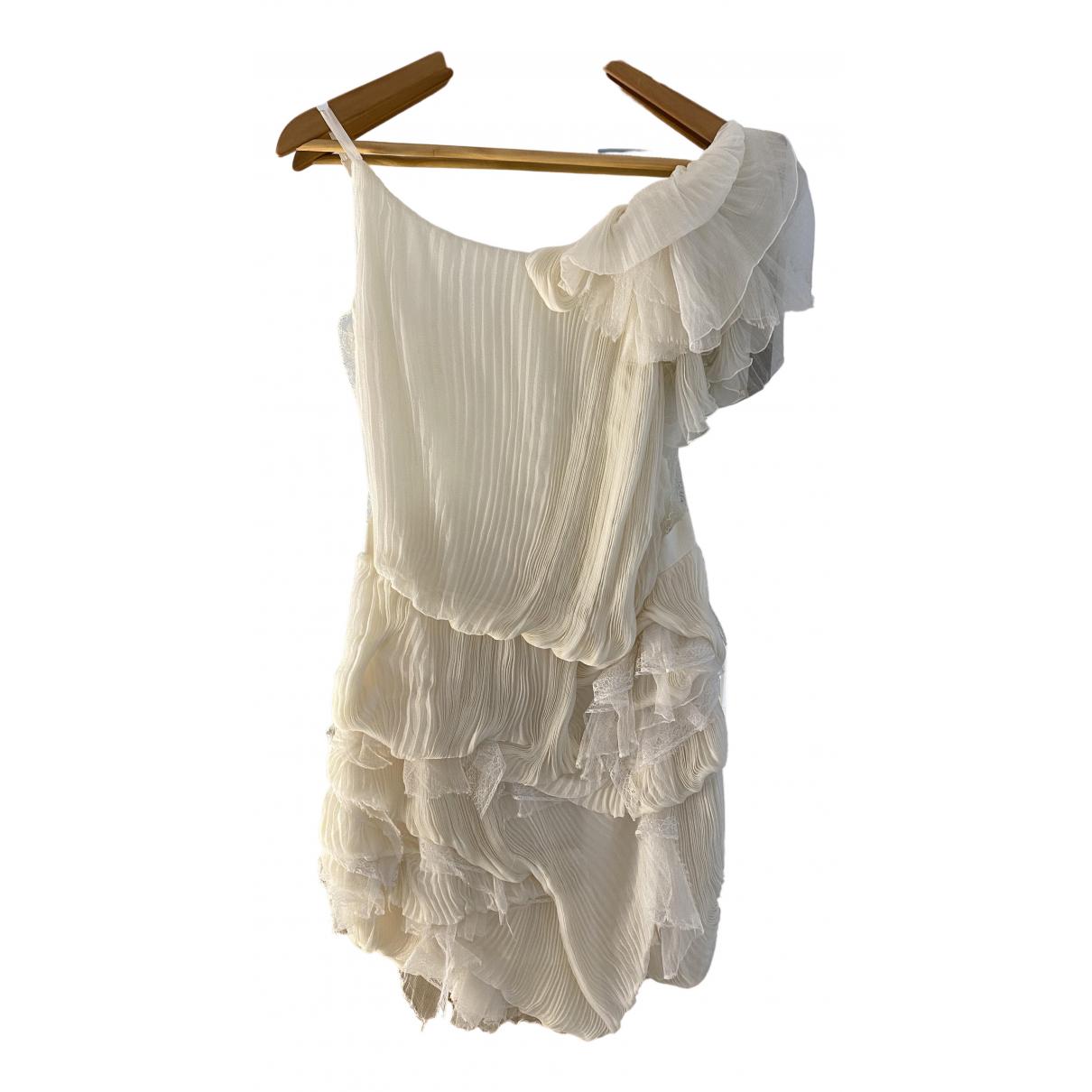 Nina Ricci N White Silk dress for Women 36 FR