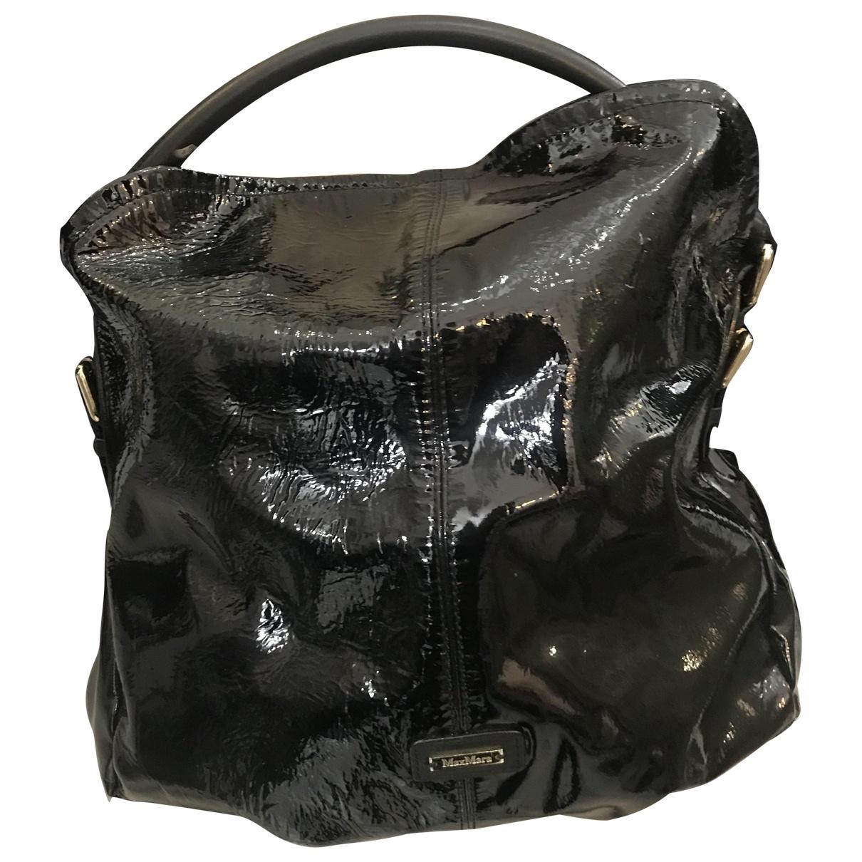 Max Mara \N Handtasche in  Schwarz Lackleder