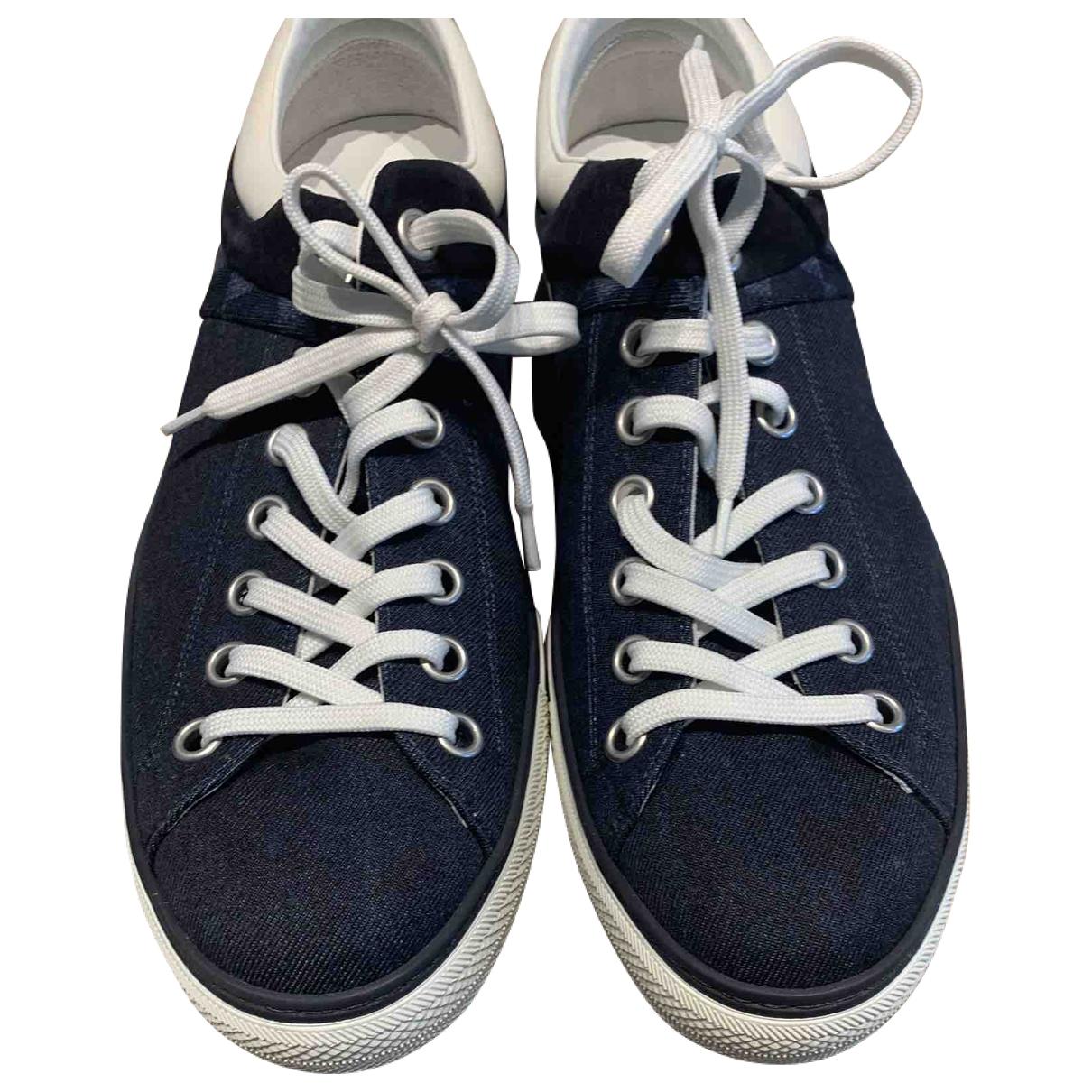 Louis Vuitton \N Blue Cloth Trainers for Men 6.5 UK