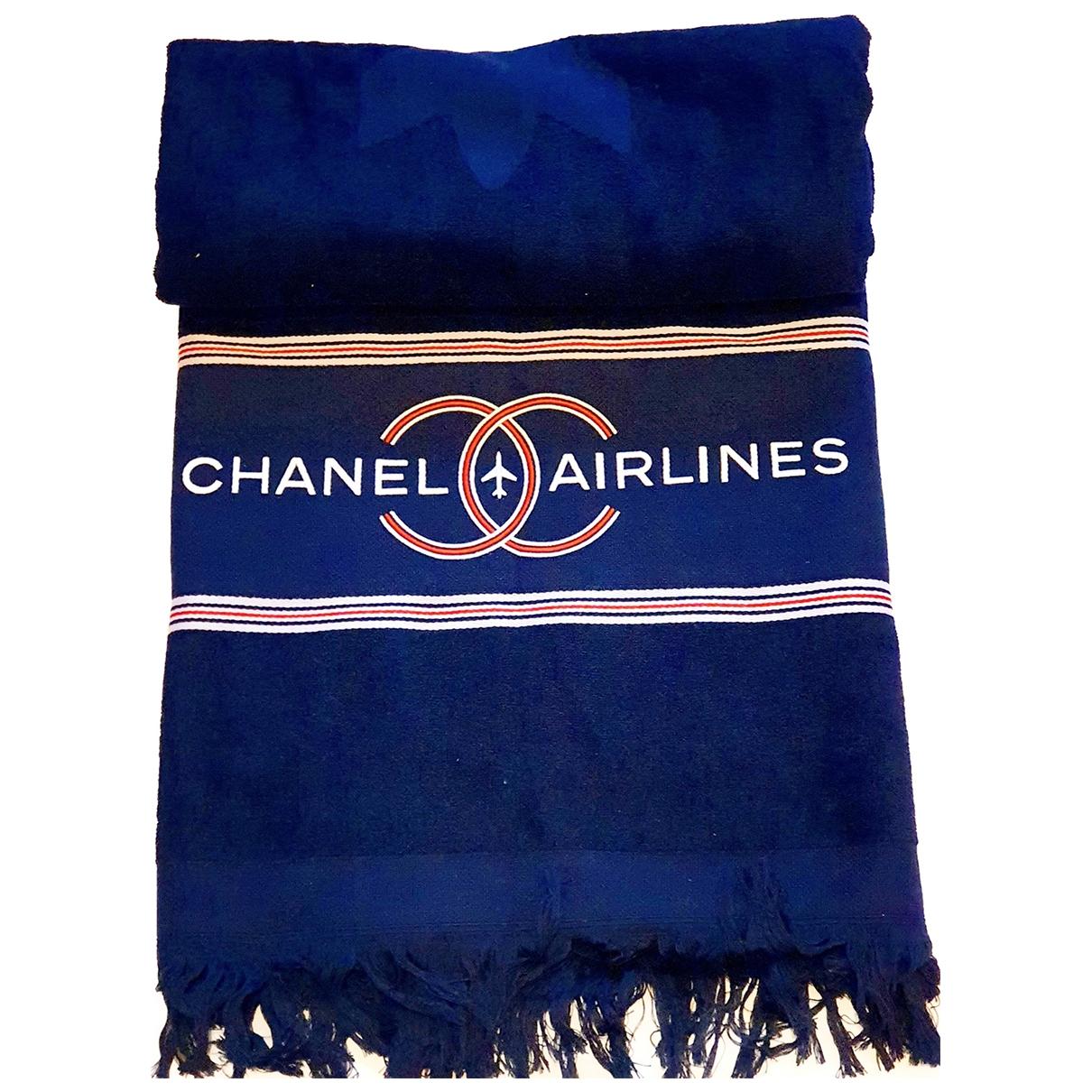 Chanel \N Heimtextilien in  Blau Baumwolle