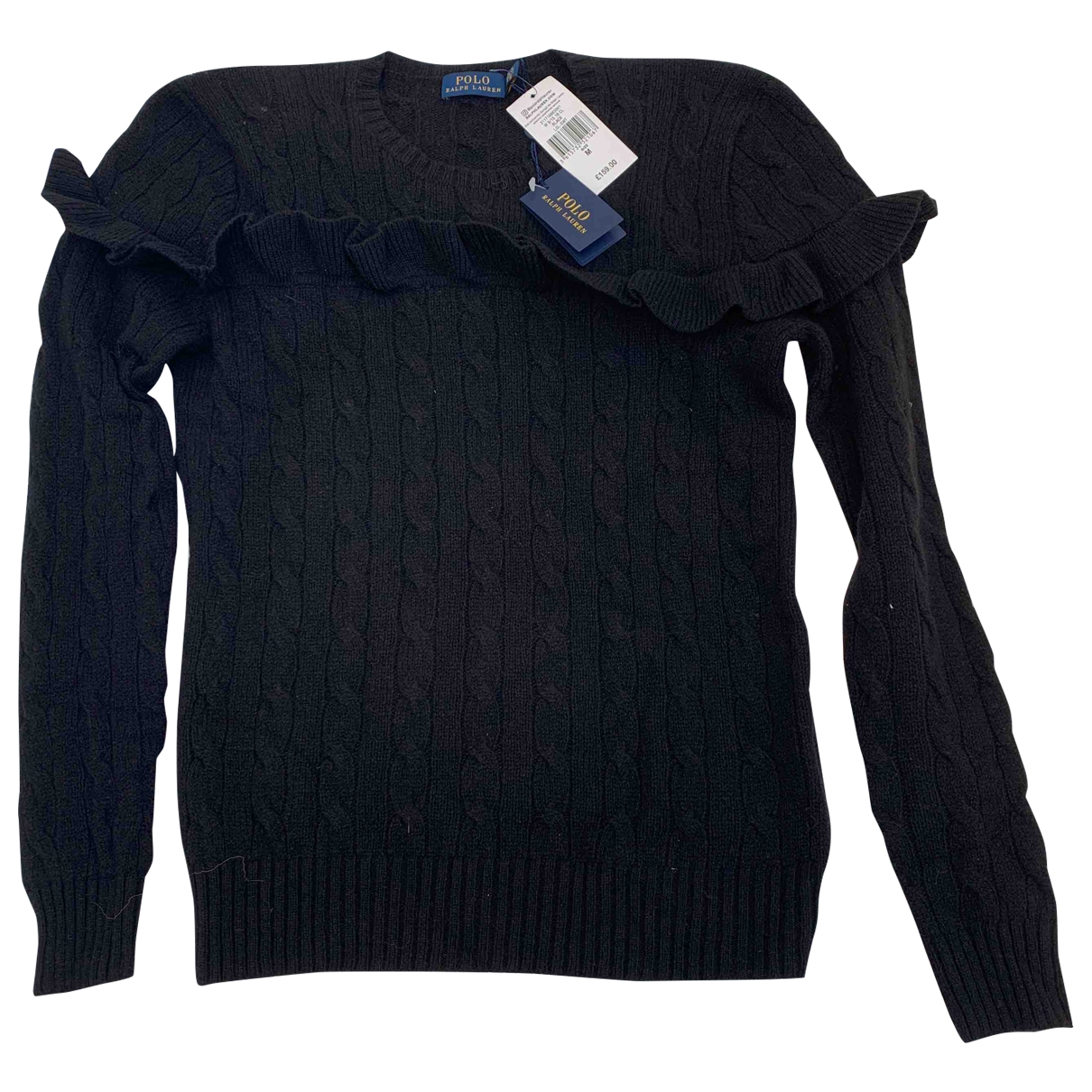 Polo Ralph Lauren - Pull   pour femme en laine - noir