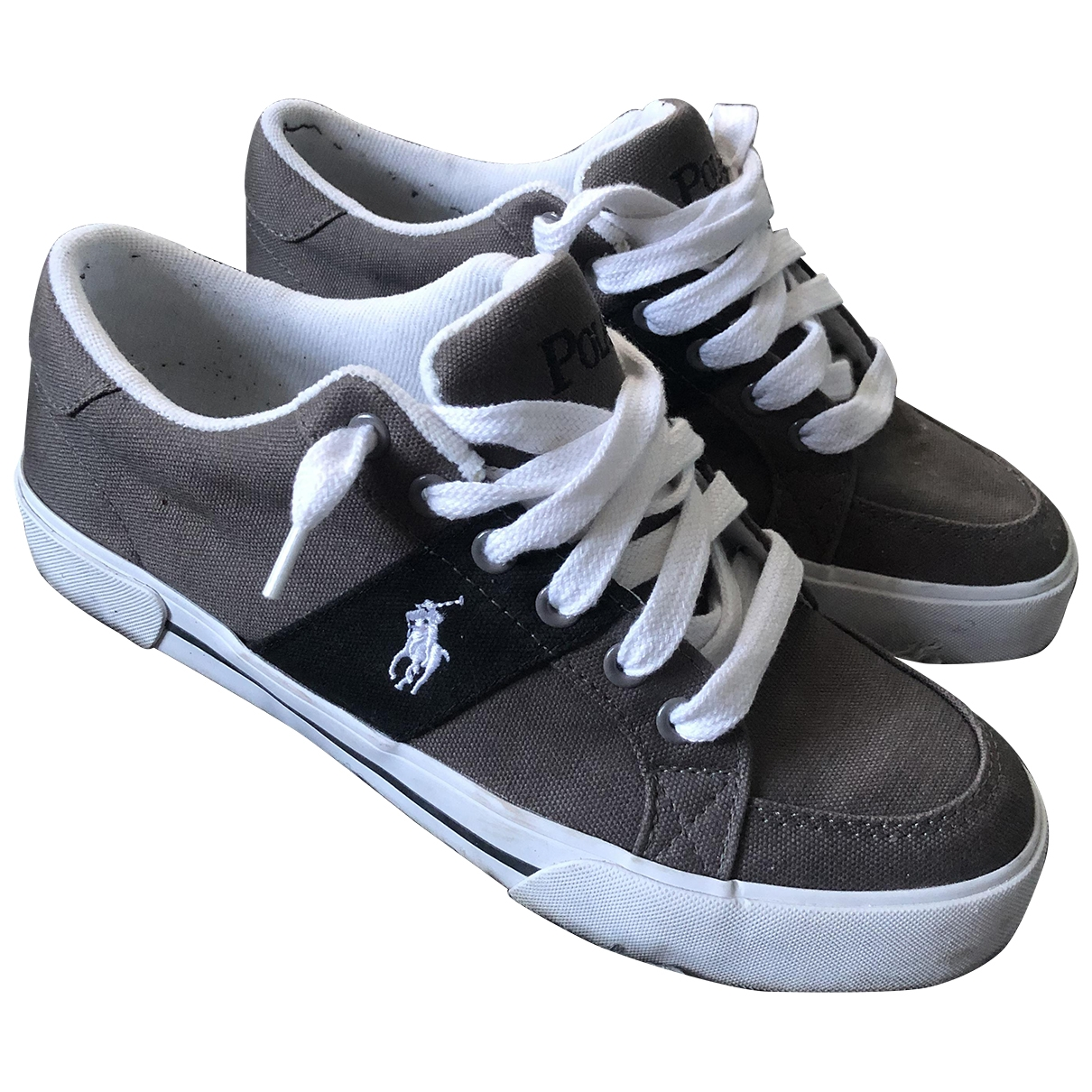 Polo Ralph Lauren \N Grey Cloth Trainers for Men 41 EU