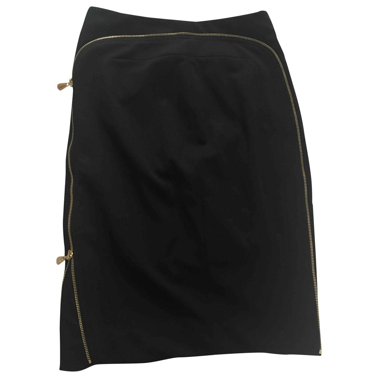 Versace - Jupe   pour femme en coton - elasthane - noir