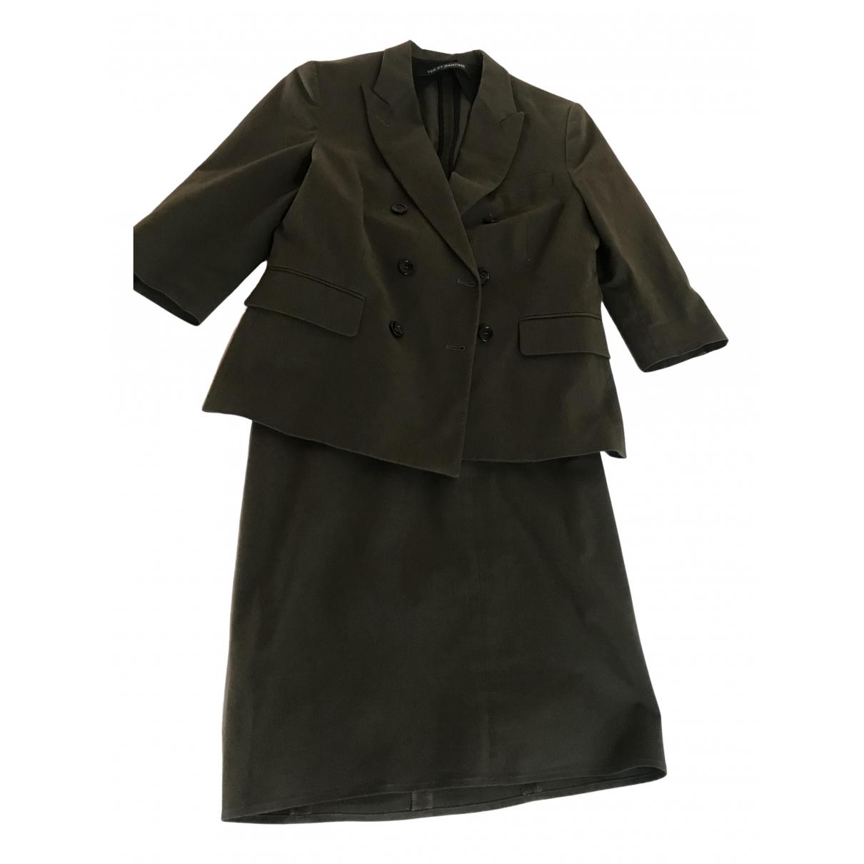 Ter Et Bantine \N Kleid in  Gruen Baumwolle - Elasthan