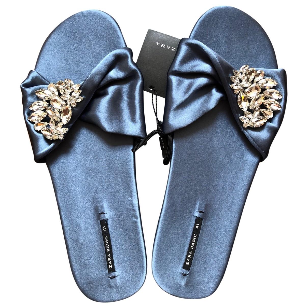 Zara \N Blue Tweed Sandals for Women 41 EU