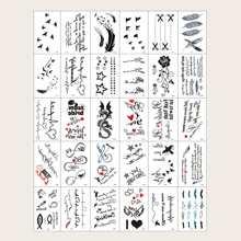 30 hojas tatuaje con letra
