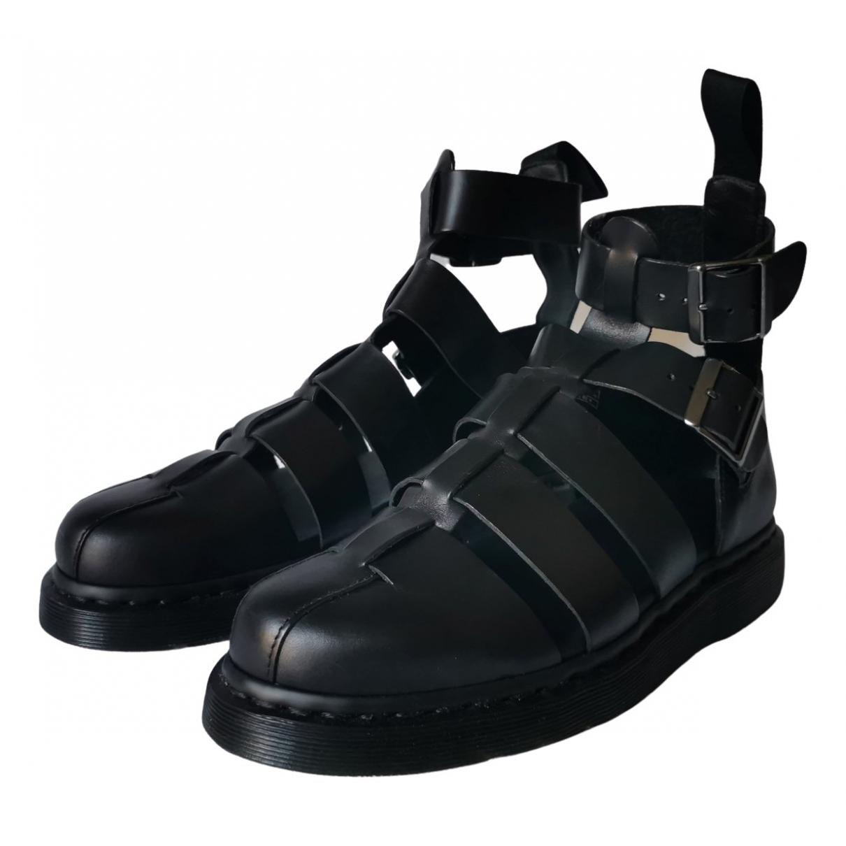 Dr. Martens - Sandales   pour homme en cuir - noir