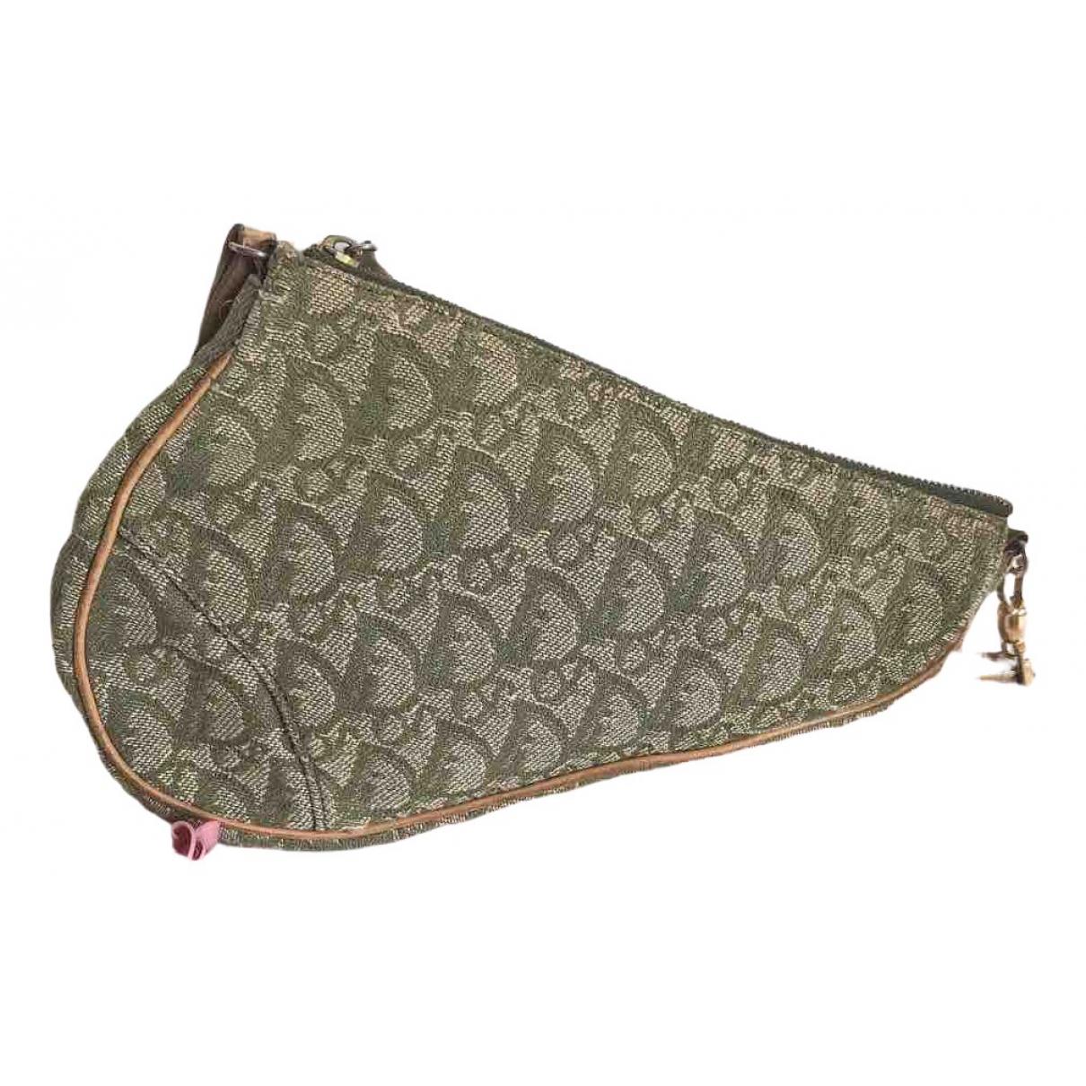 Dior Saddle Green Denim - Jeans handbag for Women \N
