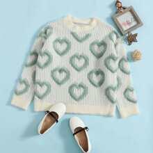 Pullover mit Herzen Muster