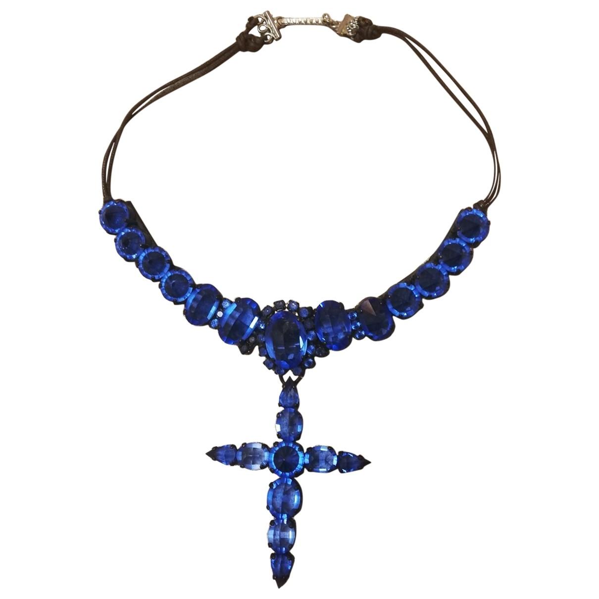 Jean Paul Gaultier \N Blue Metal necklace for Women \N