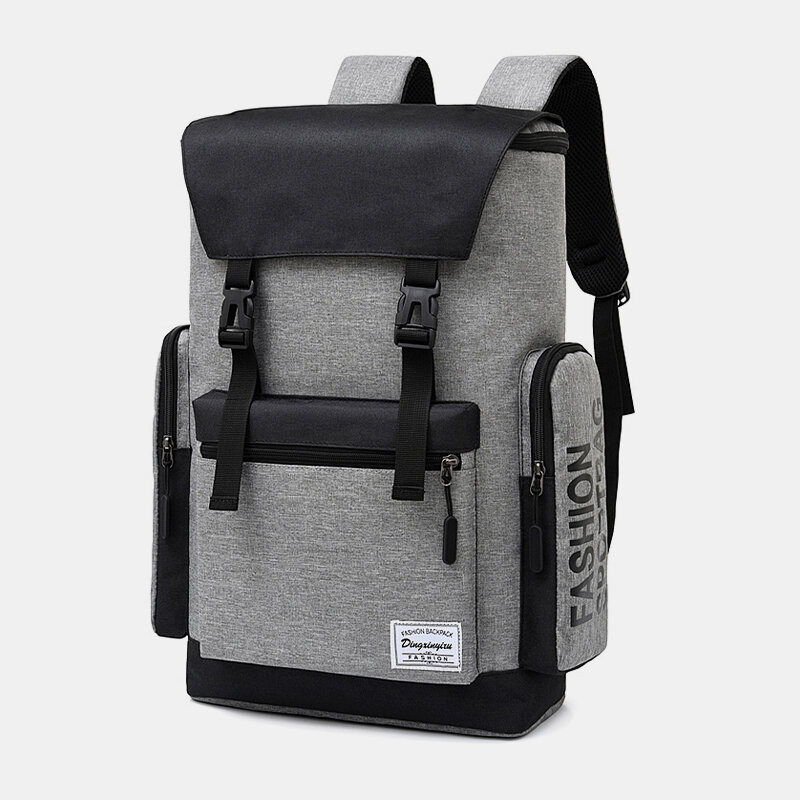Men Nylon Large Capacity Travel Laptop Bag Backpack