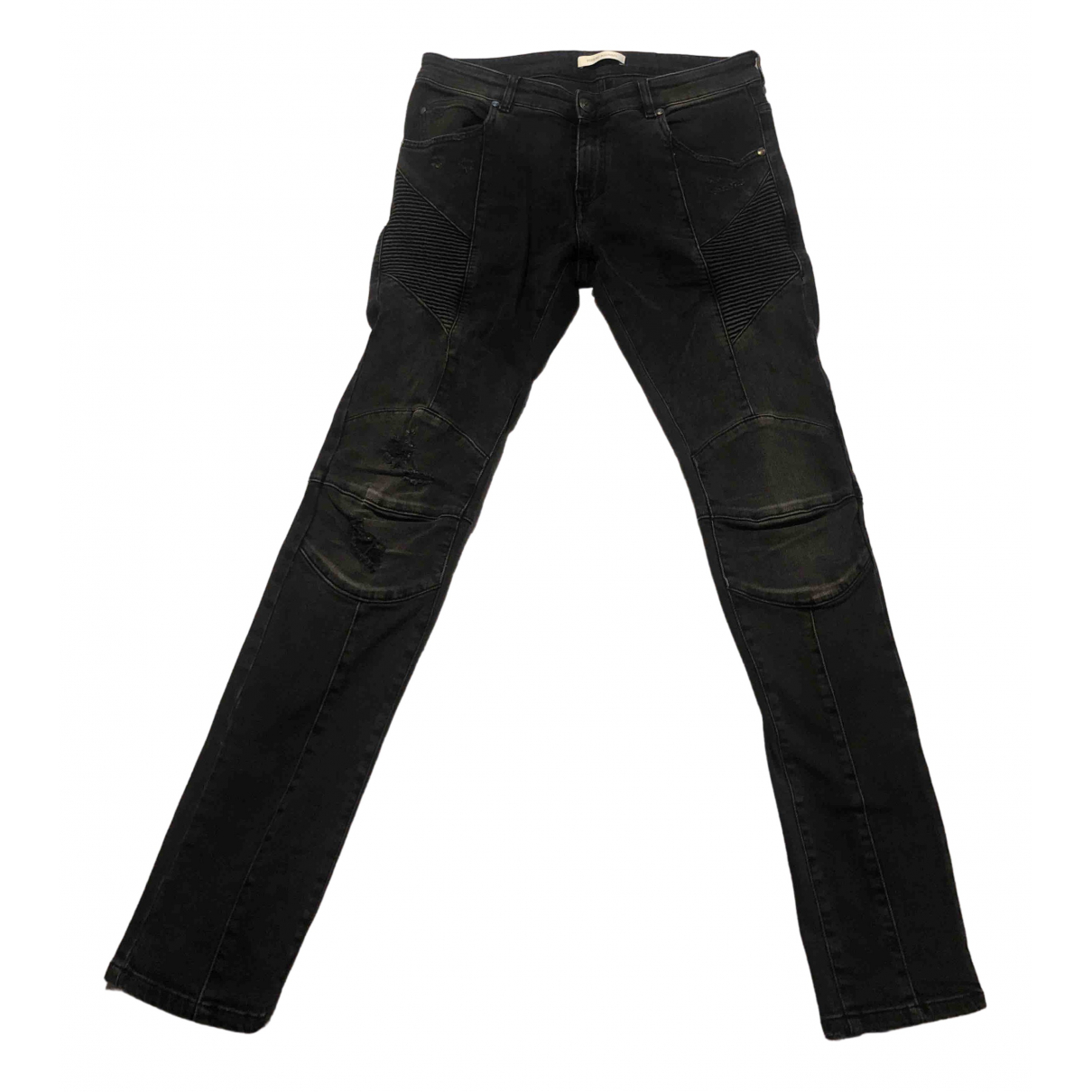 Pierre Balmain \N Black Cotton - elasthane Jeans for Men 34 US