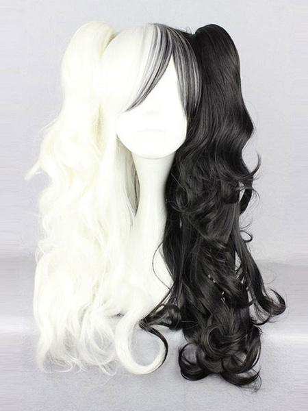 Milanoo Danganronpa Monokuma Cosplay Wig Twintail Hairstyle Halloween