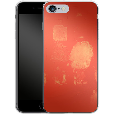 Apple iPhone 6s Plus Silikon Handyhuelle - Red Block Background von Brent Williams