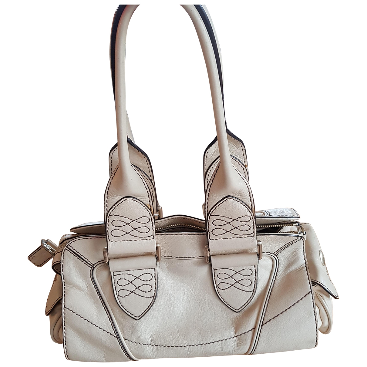 Lancel \N White Leather handbag for Women \N