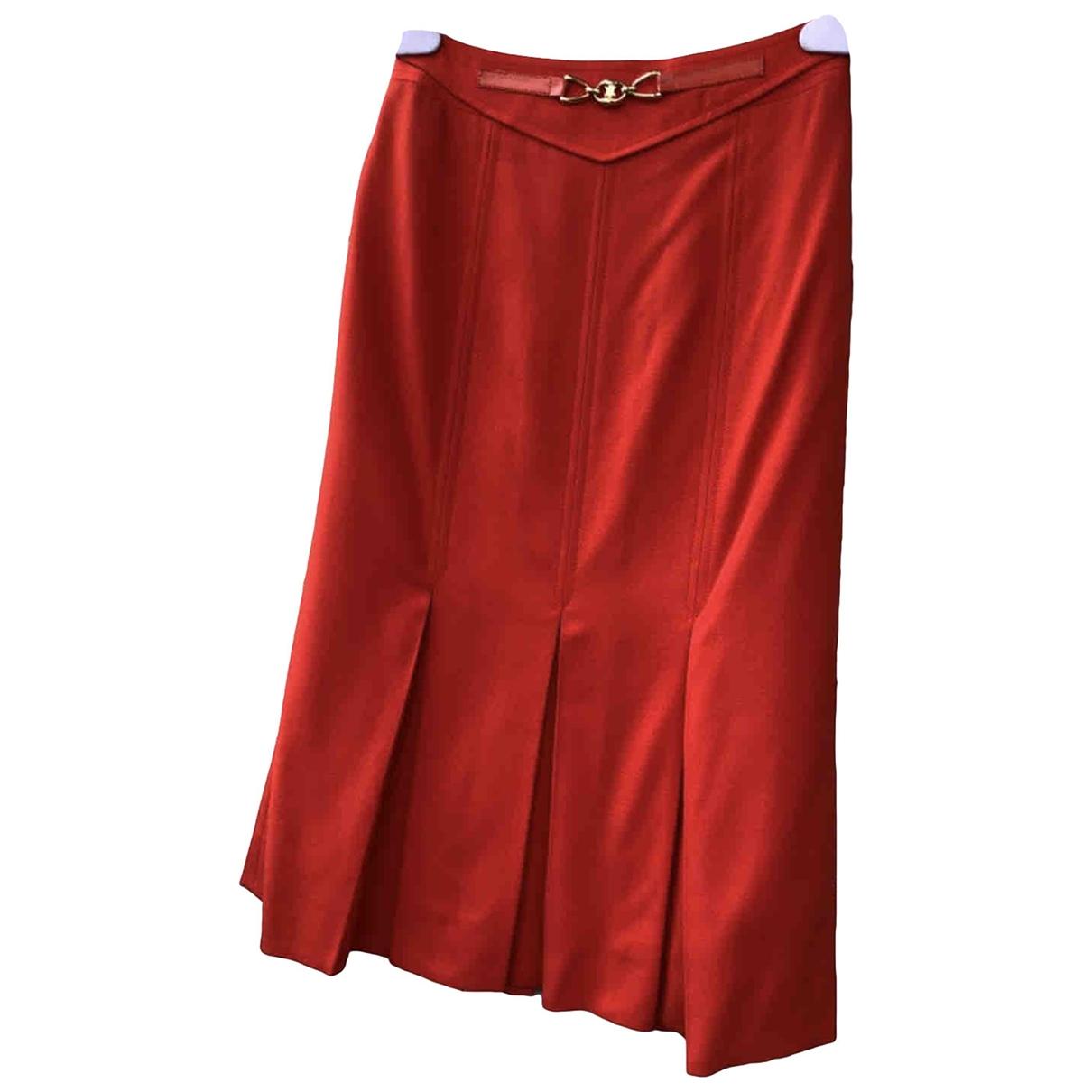Celine \N Rocke in  Rot Wolle