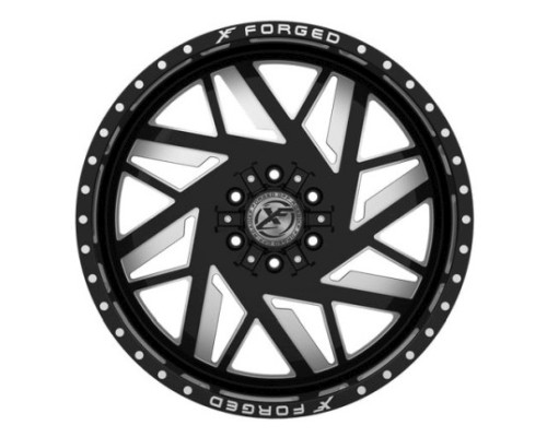 XF Off-Road XFX-306 Wheel 22x12 5x139.7|5x150 -44mm Black Milled Window