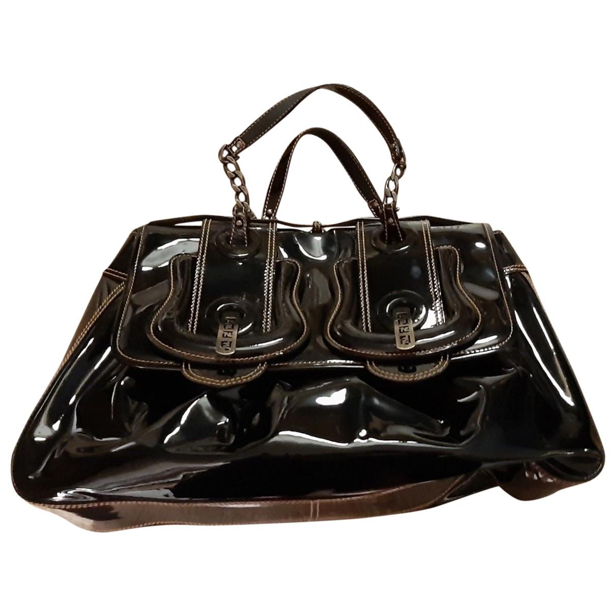 Fendi - Sac a main B Bag pour femme en cuir verni - noir