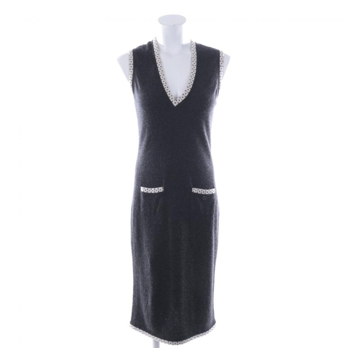 Chanel - Robe   pour femme en cachemire - gris