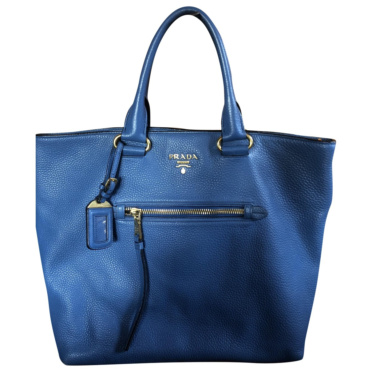 Prada \N Handtasche in  Blau Leder