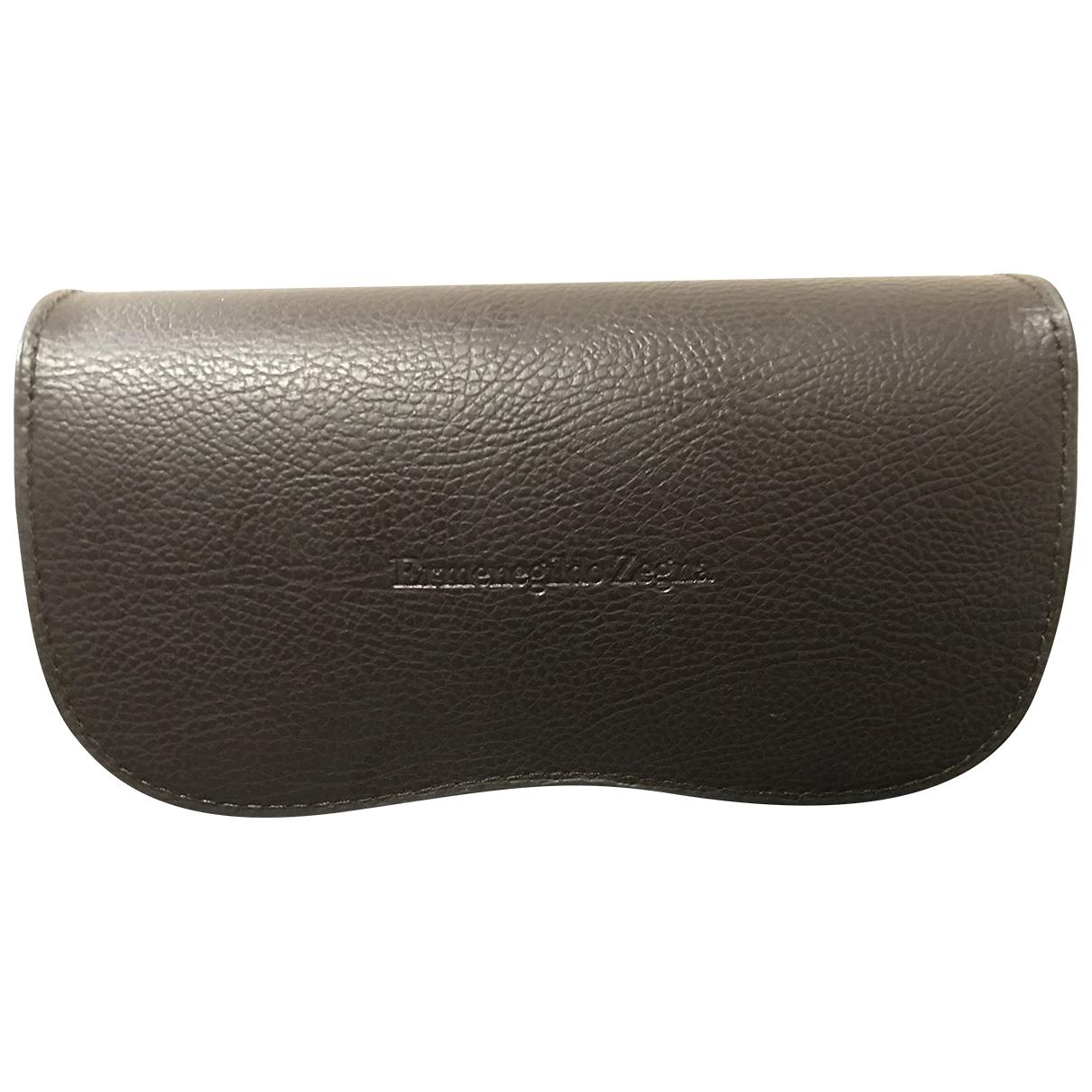 Ermenegildo Zegna \N Brown Leather Sunglasses for Men \N