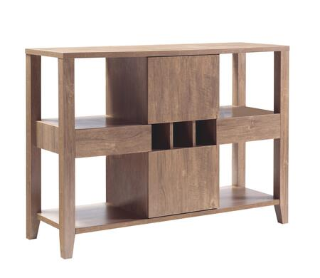 BM204148 Transitional Wooden Buffet with 4 Open Shelves and 2 Drawers